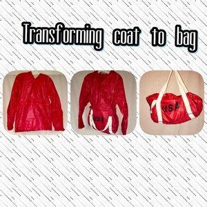 Jackets & Blazers - Red raid/wind coat transform